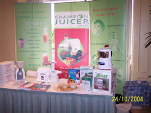 Champion Juicer at the Gawler Foundation Conference in Melbourne